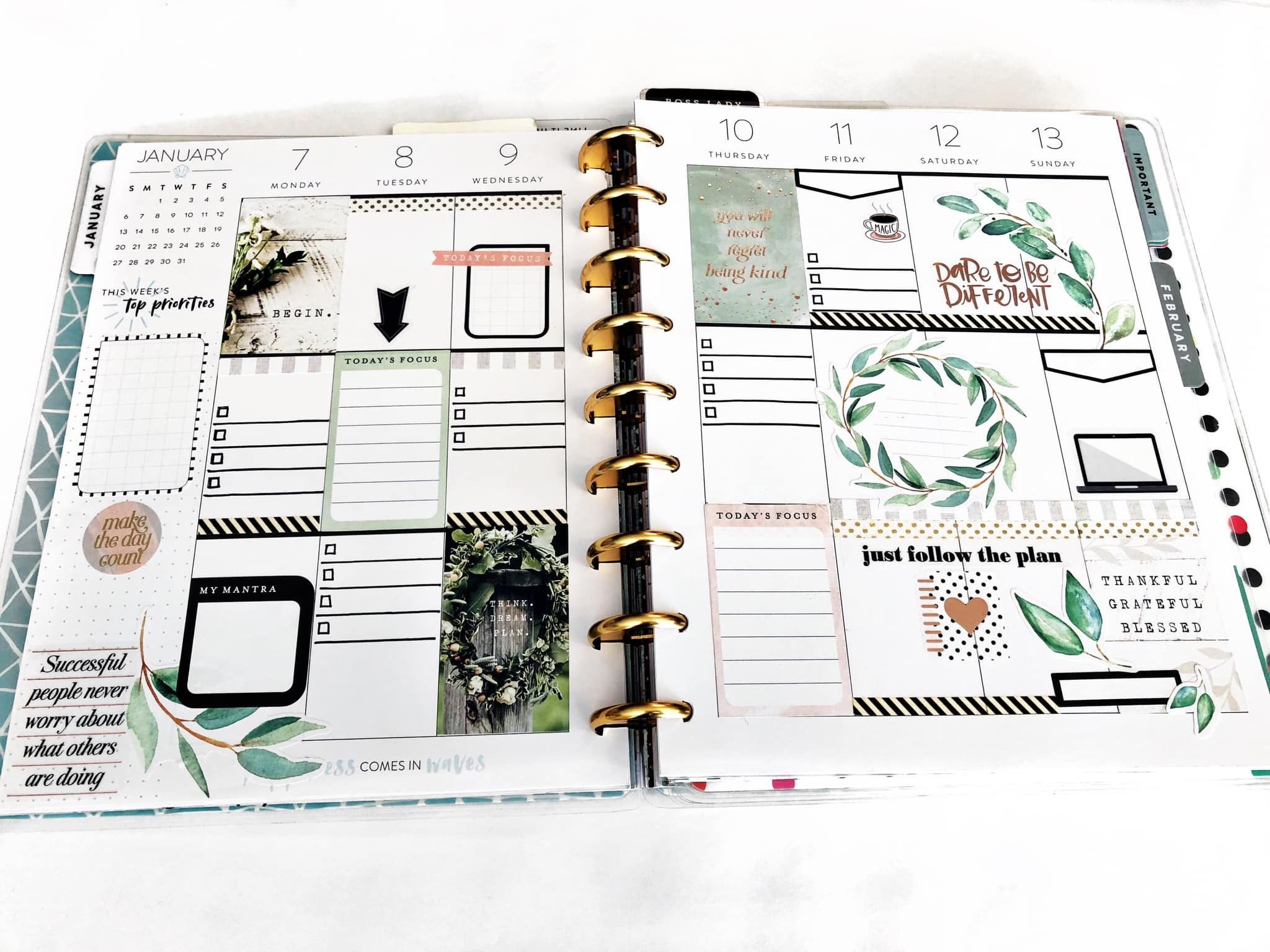 Hp Farmhouse Sticker Book Weekly Layout