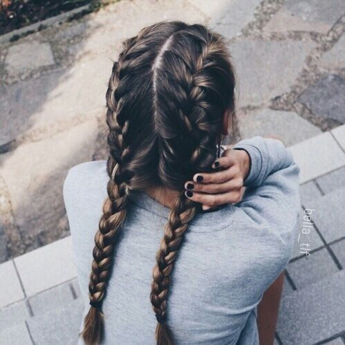 Double French Braids In 2020 Hair Styles Long Hair Styles Hair Makeup