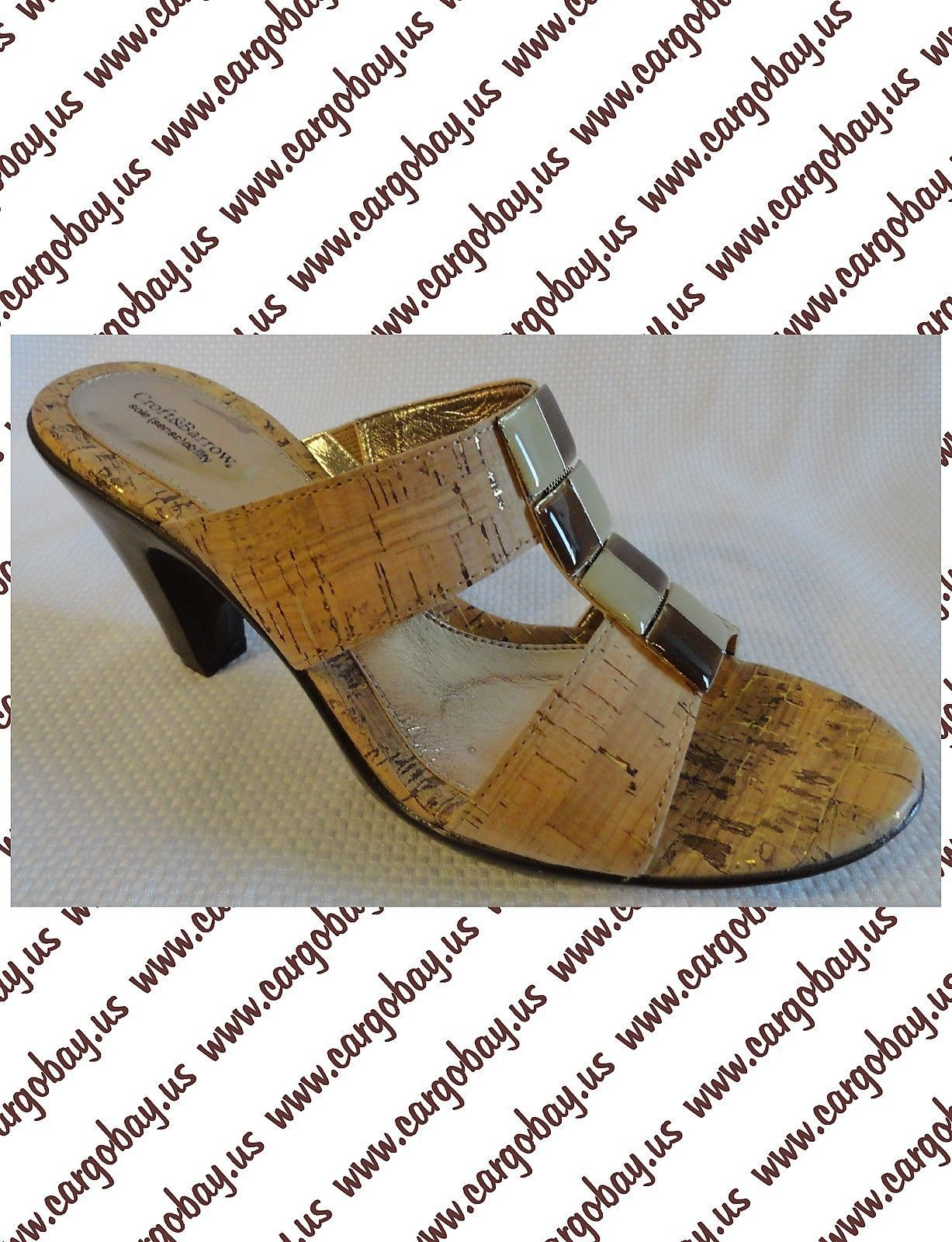 Summer Braun Cork Mule Heels Sandales New Größe 7 8.5 or 9 or 8.5 9.5 You ... 35b9e4