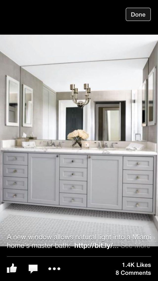 Sconce On Mirror Jan Pinterest Bathroom Grey Bathrooms And Bath