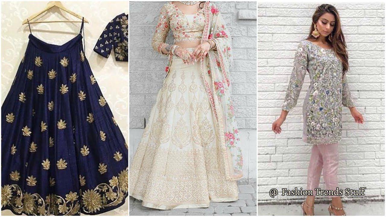 Latest modern dresses women ladies girls bridal fashion trends