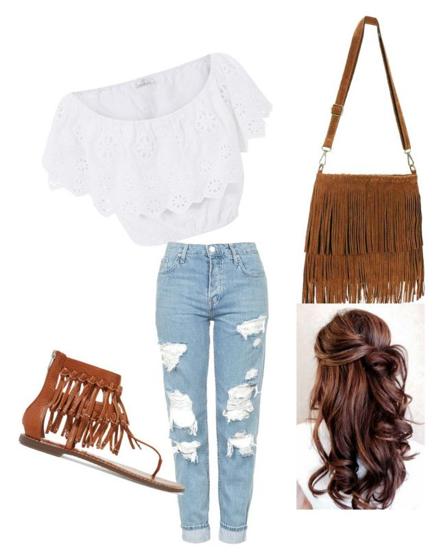 """Untitled #40"" by mexican-stylist on Polyvore featuring Miguelina, Topshop and Sam Edelman"