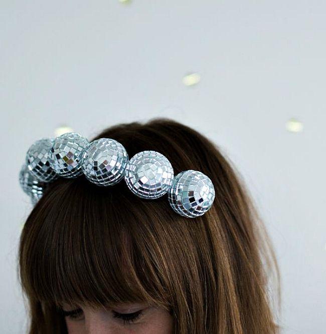 diy disco ball headband  f288e19dd4bb