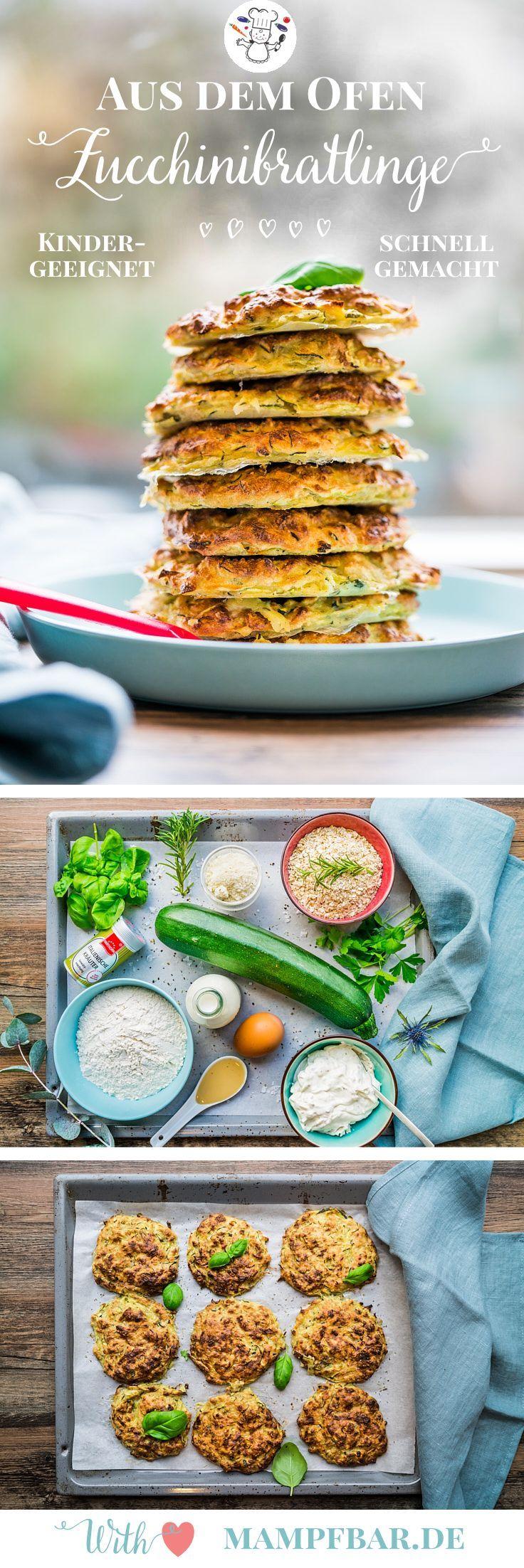 Schnelle Zucchini Bratlinge Aus Dem Ofen Frühlingsfreude Rezept