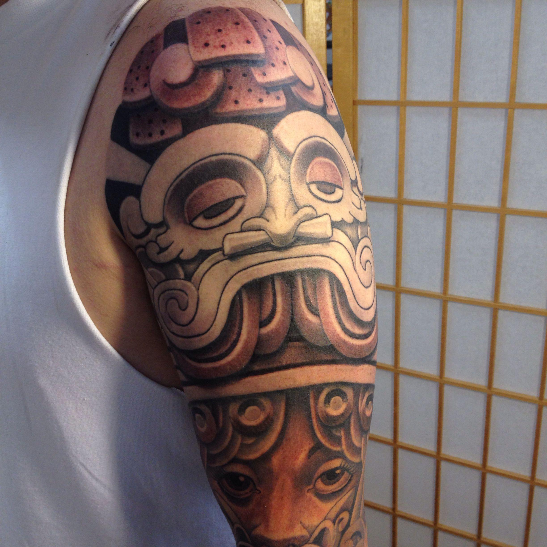Tlaloc Aztec Zapotec Mixtec Tattoo Blackandgrey