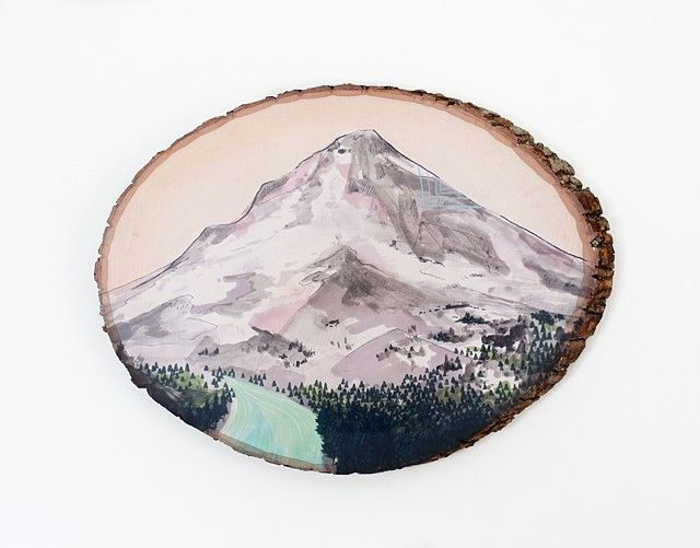 Peinture sur souche par Cathy McMurray