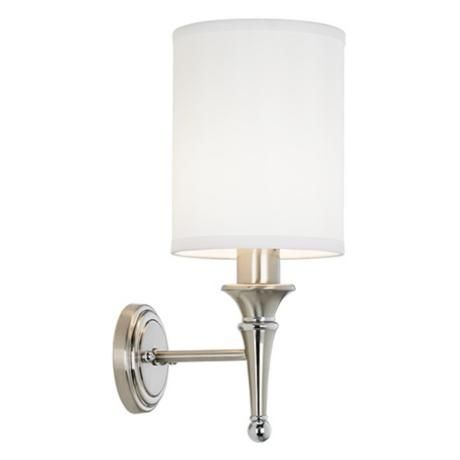 Linos contemporary brushed steel plug in sconce bathroom sconces bathroom sconce idea contemporary brushed nickel finish plug in sconce aloadofball Image collections