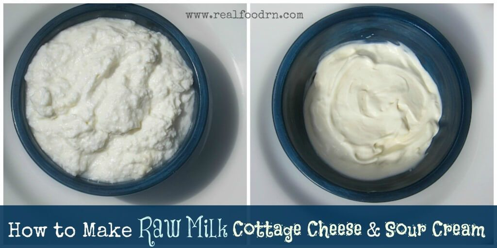 How To Make Raw Milk Cottage Cheese Sour Cream Recipe Raw Milk Cheese Sour Cream Real Food Recipes