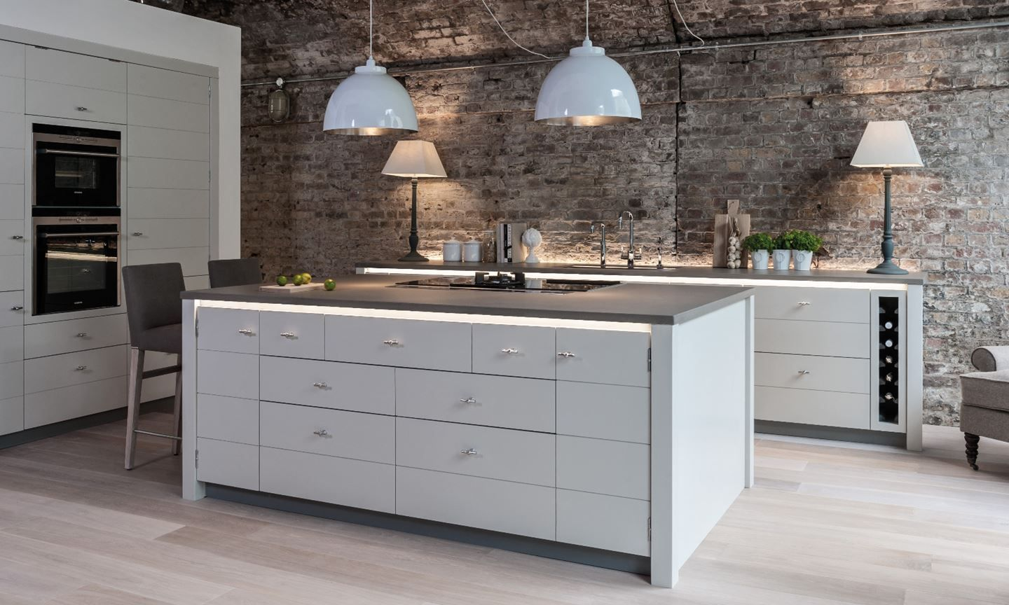 Limehouse contemporary paint kitchen fitted kitchen and kitchen