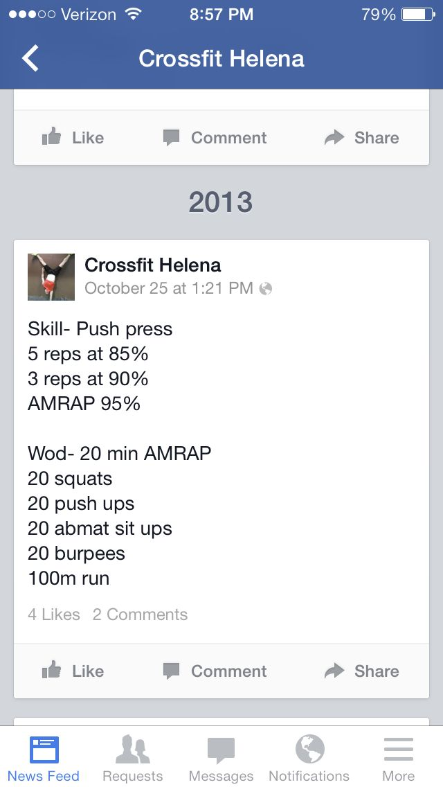 Crossfit workout from camera