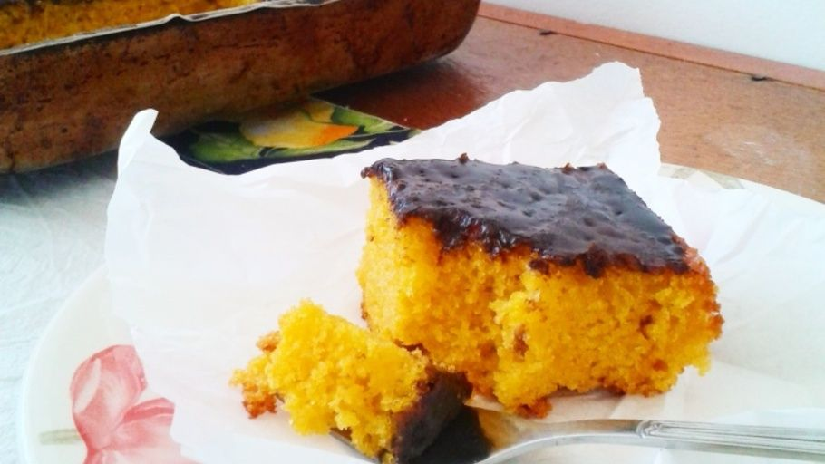 Brazilianstyle carrot sheet cake cake carrots walnut cake