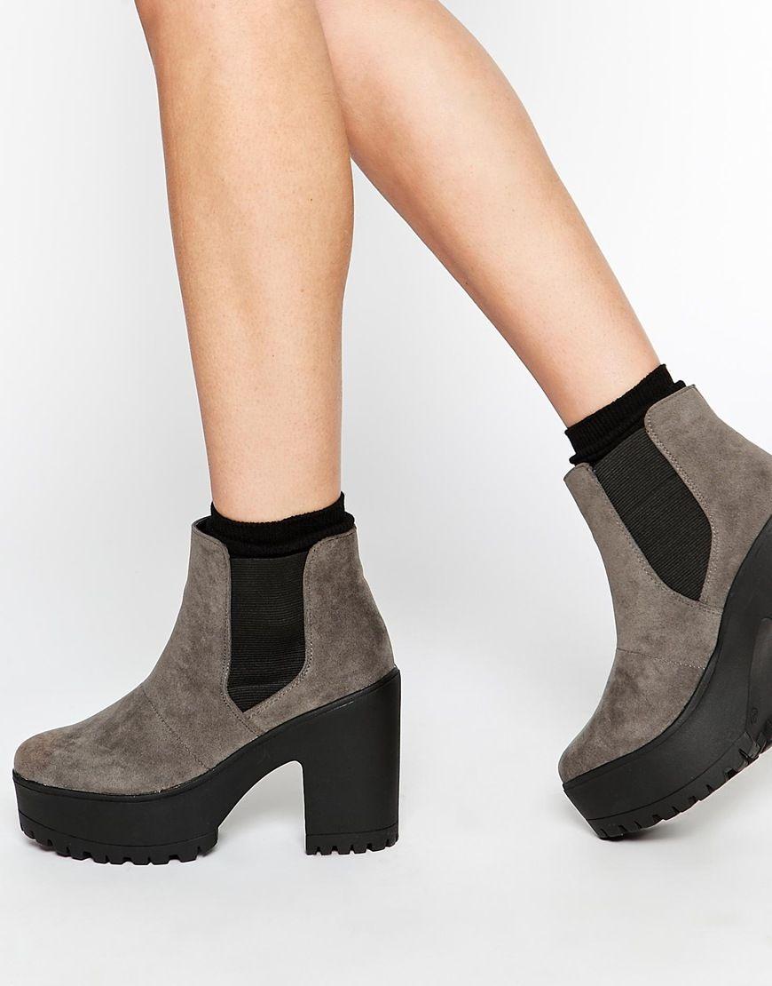 truffle nora plateau chelsea stiefeletten shoes. Black Bedroom Furniture Sets. Home Design Ideas