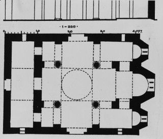 Plans Drawings Church Of The Kapnikarea Plan Drawing Early Christian Byzantine Empire