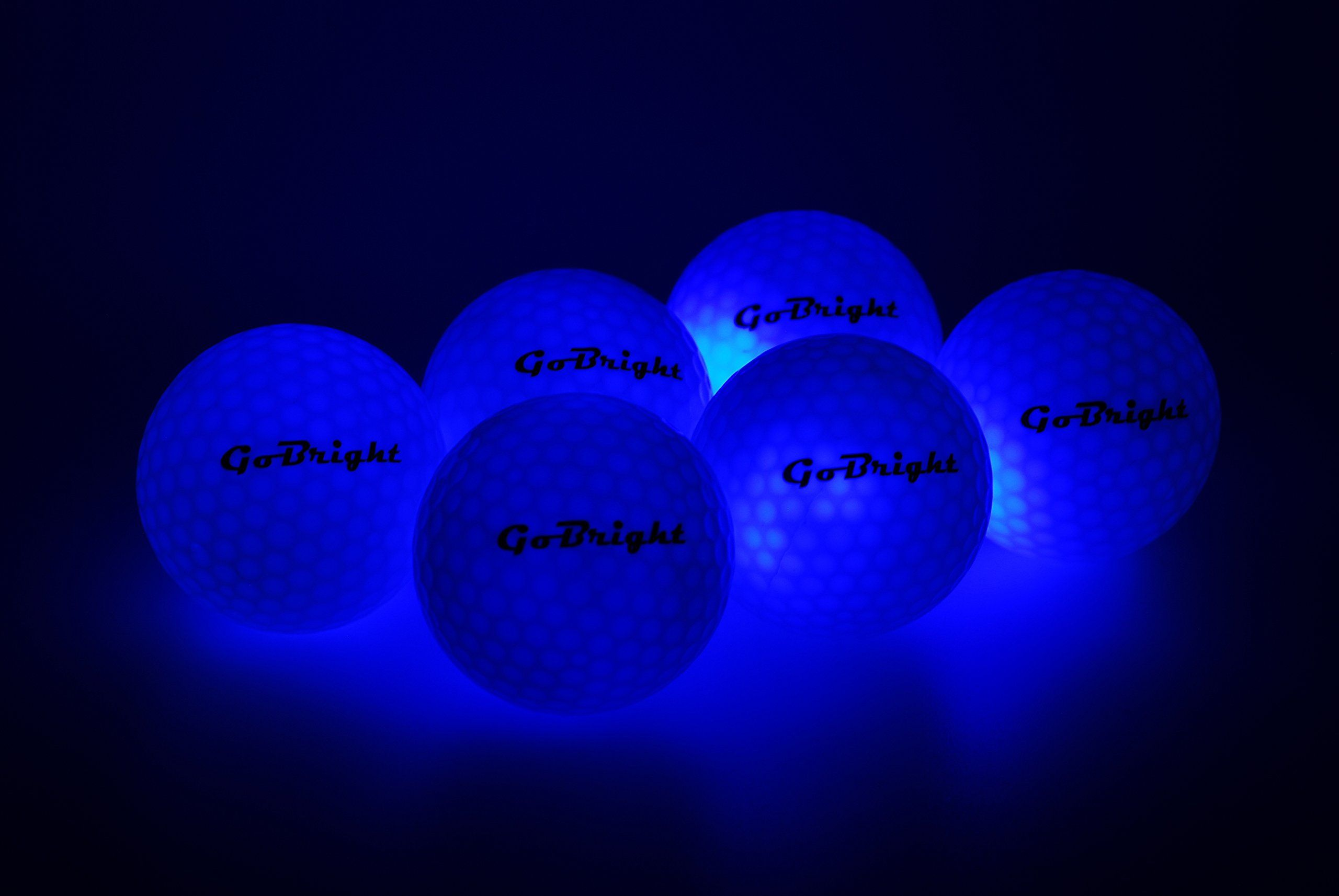 Golf Balls Gobright Blue Led Light Up Golf Balls Ultra Bright Glow In The Dark Night Golf Balls Pack Of 2 Click Pho Blue Led Lights Led Lights Light Up