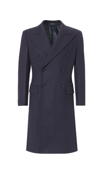 Navy King Coat, Slim Fit Crombie | Mens dress coats, Coat