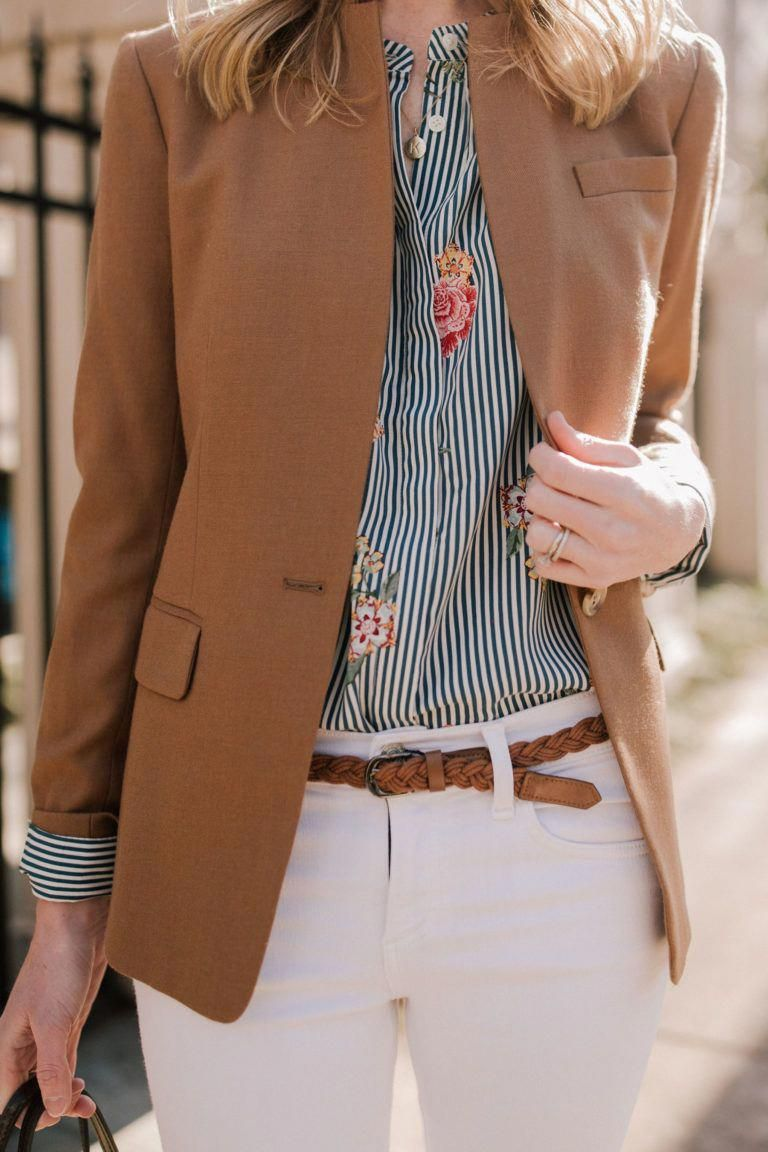 bbbd8efbe74 Classic Camel Blazer Outfit Details - Kelly in the City   womensfashionclassypreppy