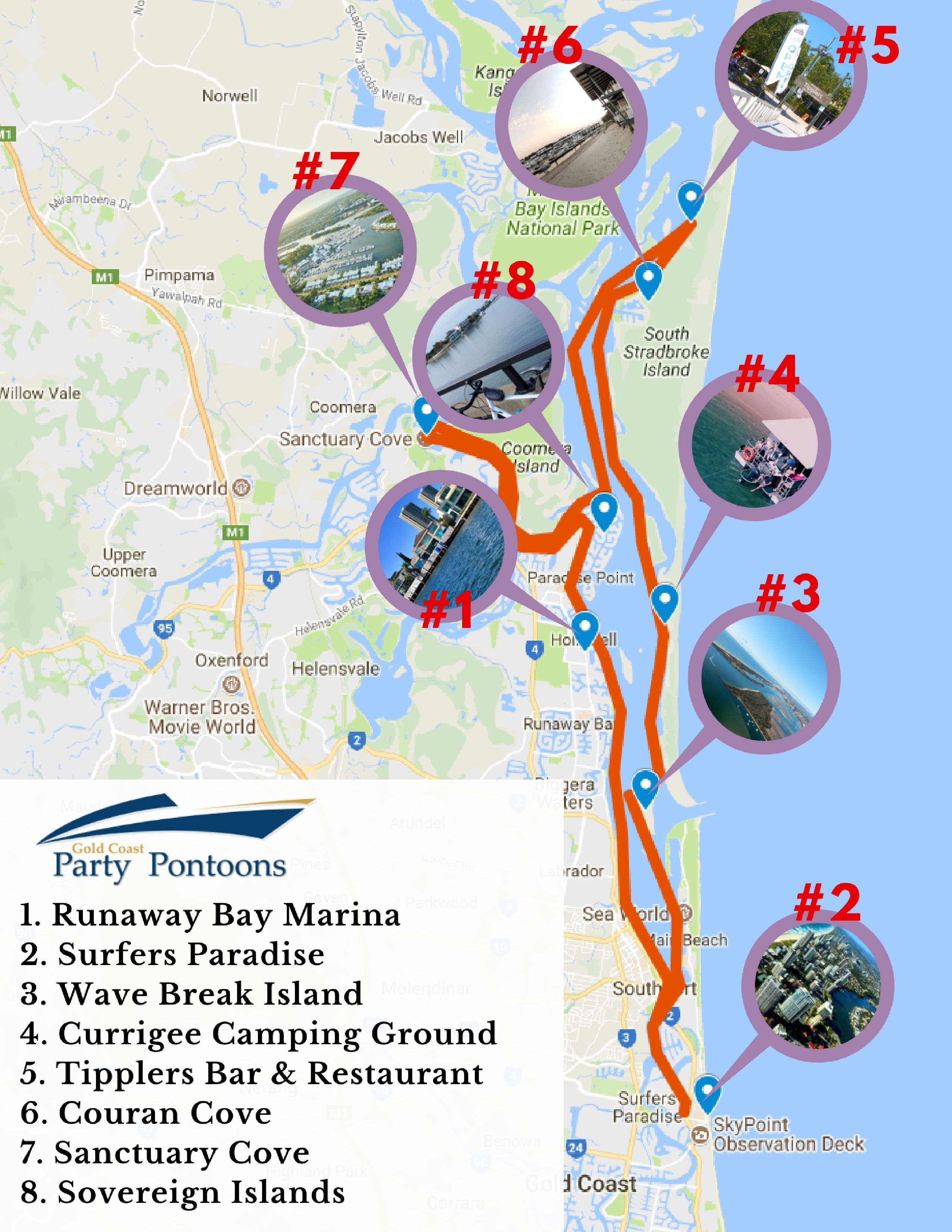 8 Superb Destinations Along The Gold Coast Broadwater To Berth At Whatever You Prefer We Guarantee You An Amazing Time Onboard Pontoon Boat Hire Jacobs Well