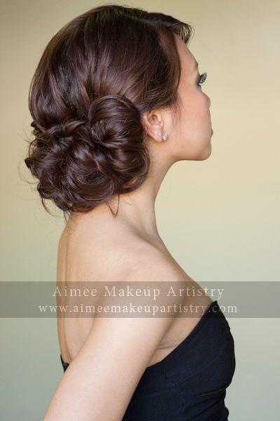 Pretty Asian Woven Loose Low Bun Wedding Hair Inspiration Bridesmaid Hair Wedding Hairstyles Updo