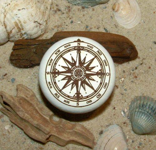 Möbelknopf Möbelknauf Windrose Kompassrose Gravur maritim Buche | eBay