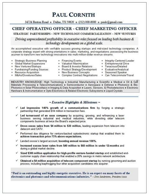 Cmo Resume For Executive With Awesome Exp Securing Funding And Growing Startups In High Tech Resume Executive Resume Chief Marketing Officer