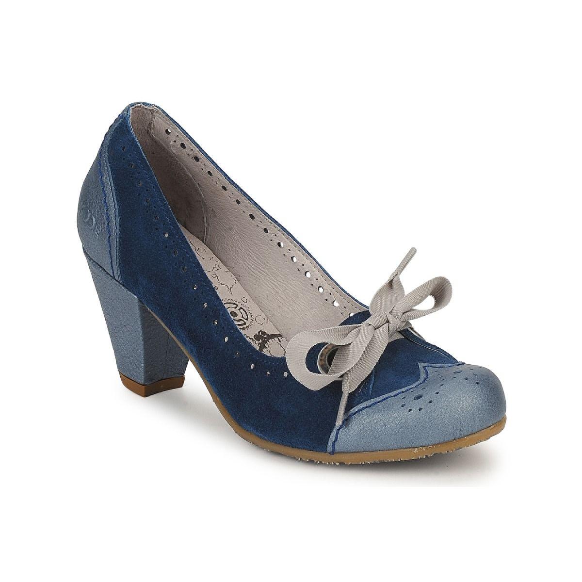 5dbfb0c31f50 Escarpins Dkode OASIS Bleu - Livraison Gratuite avec Spartoo.com ! - Chaussures  Femme 79