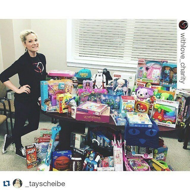 #Repost @_tayscheibe with @repostapp  crazy busy week last week but totally worth it. blessed to do what i do forever grateful to share it with others.  #repost @withlove_charity with @repostapp.  100 toys & items were donated to @rmhcjacksonville yesterday to help bring joy to the families being housed there while their children receive treatment locally.  #giveback #worldcancerday #rmhc #vday #celebration #toydrive #childhoodcancerawareness #support #ilovejax #givehope #withlove by…