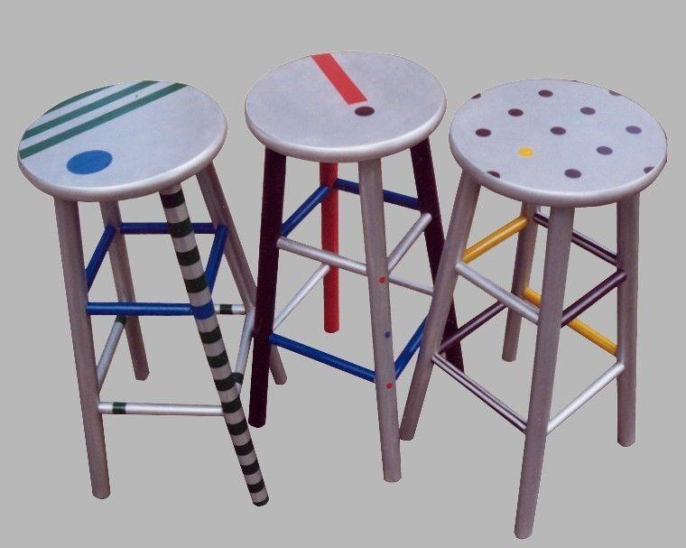 Astounding Custom Made Hand Painted Bar Stools Bar And Counter Stools Machost Co Dining Chair Design Ideas Machostcouk