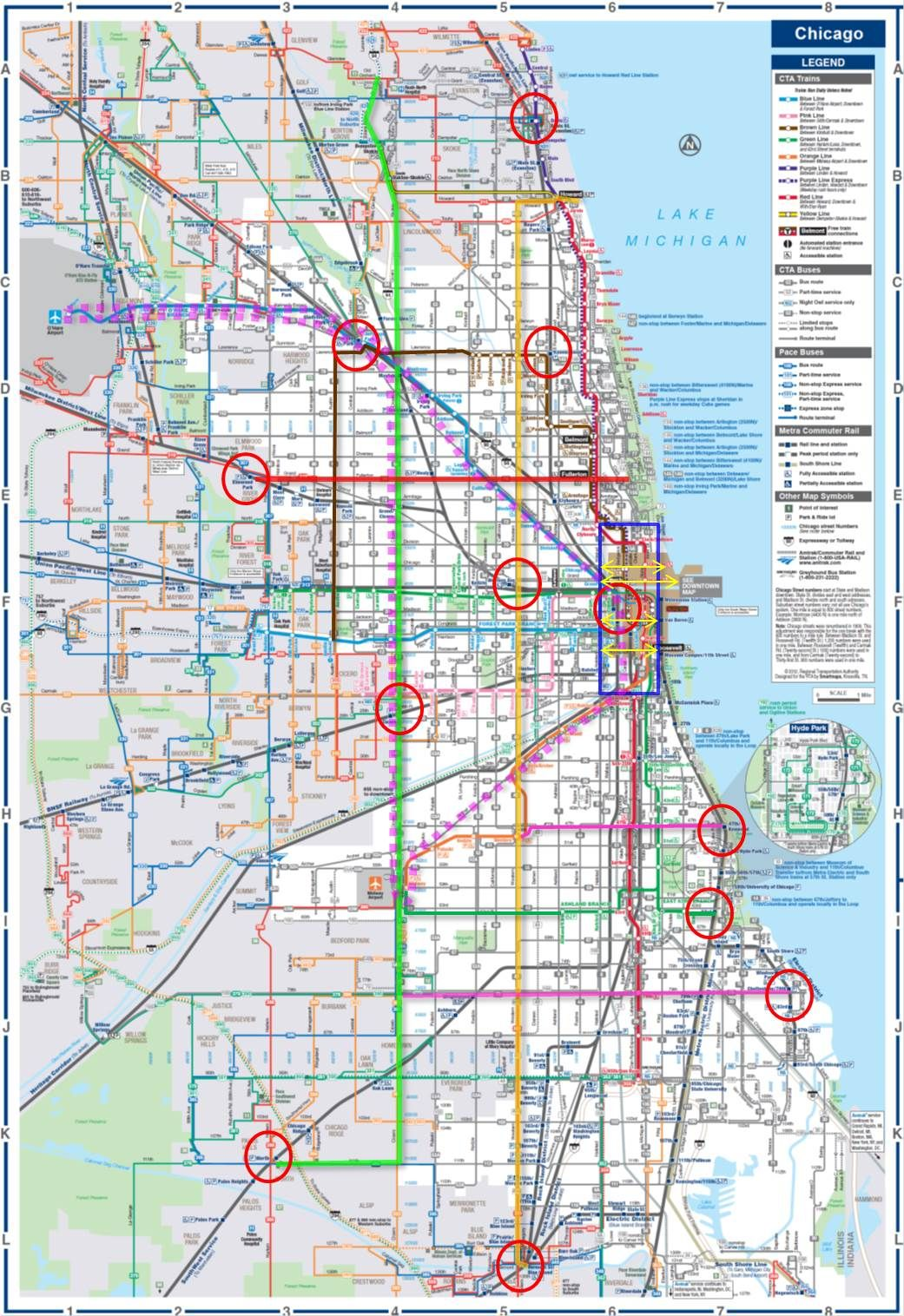 Revised To Include O Hare Midway Loop High Speed Express Loop And