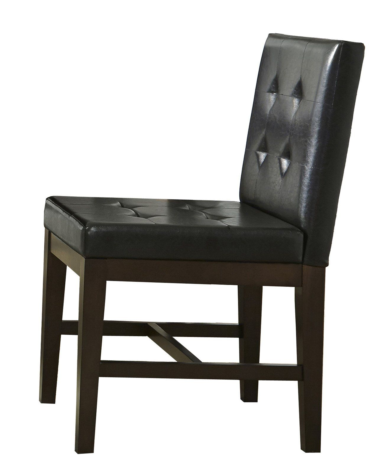 Outstanding Transitional Dining Room Suitable For Any Home: Athena Transitional Dining Uph Chairs (Set Of 2) Dark