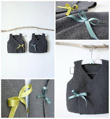 Knitted Wrap Around Baby Vests Breien Pinterest Baby Vest