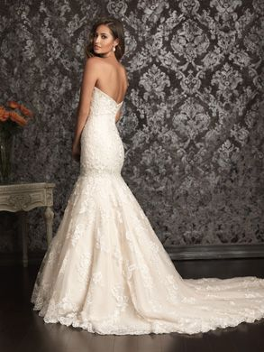 99cd4ec92ab7d All S13-4, Allure wedding gown. Bridal gown. Mermaid all lace gown.  Princess Brides.