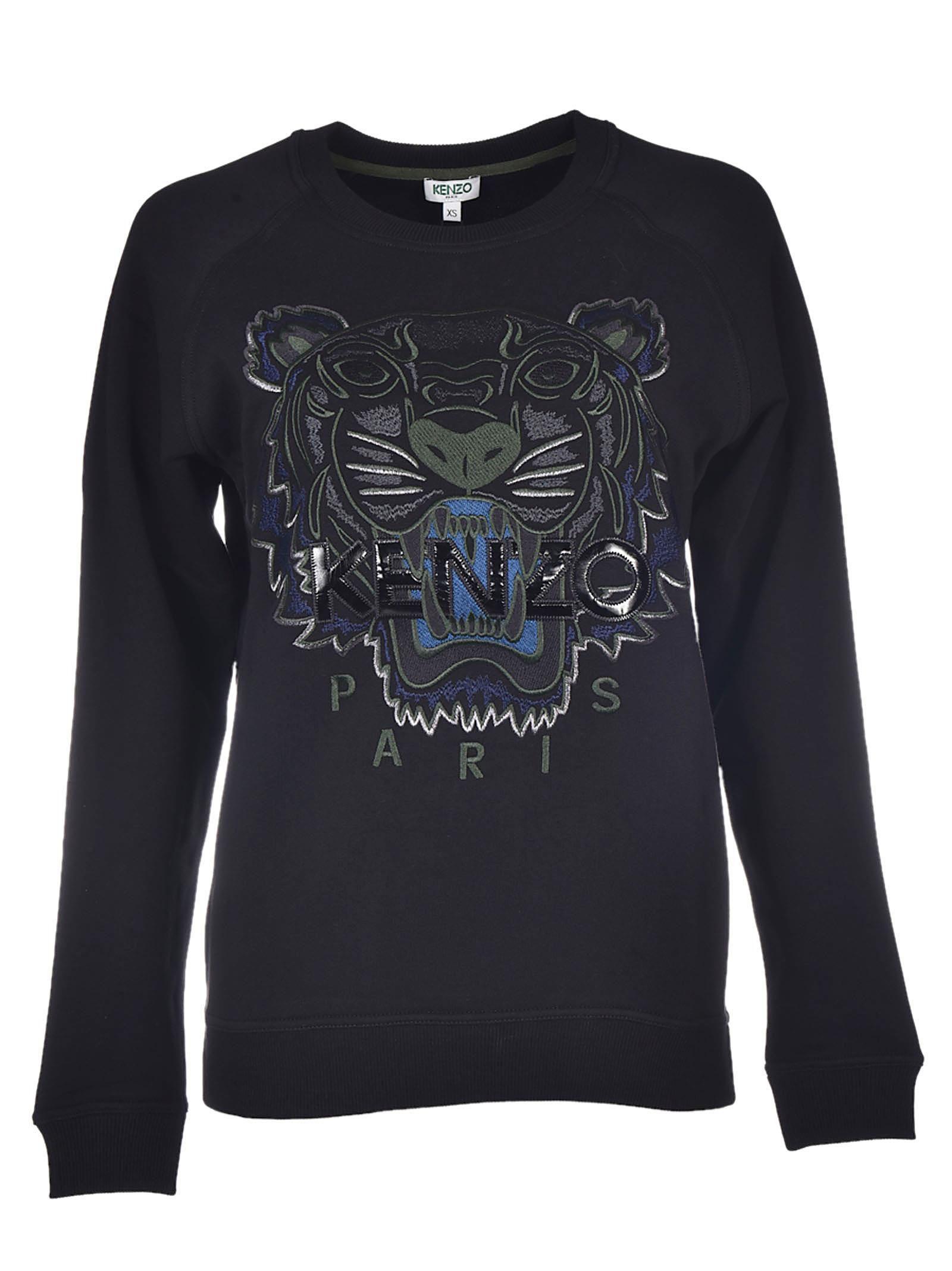 Tiger Classic Sweatshirt, Nero   Kenzo, Tigers and Sweatshirt ec5afb5a9e1