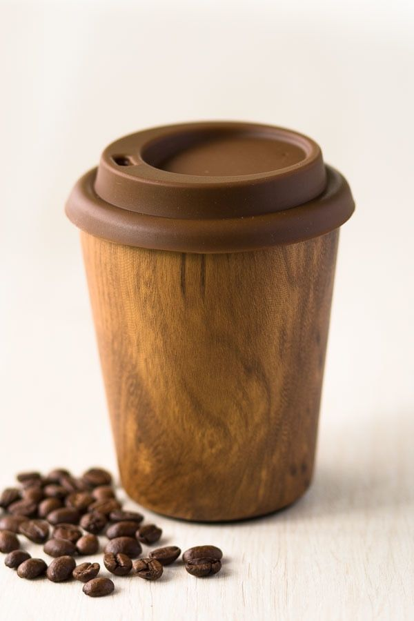 Stainless Steel Reusable Coffee Cup - Small Timber Design #coffeecup
