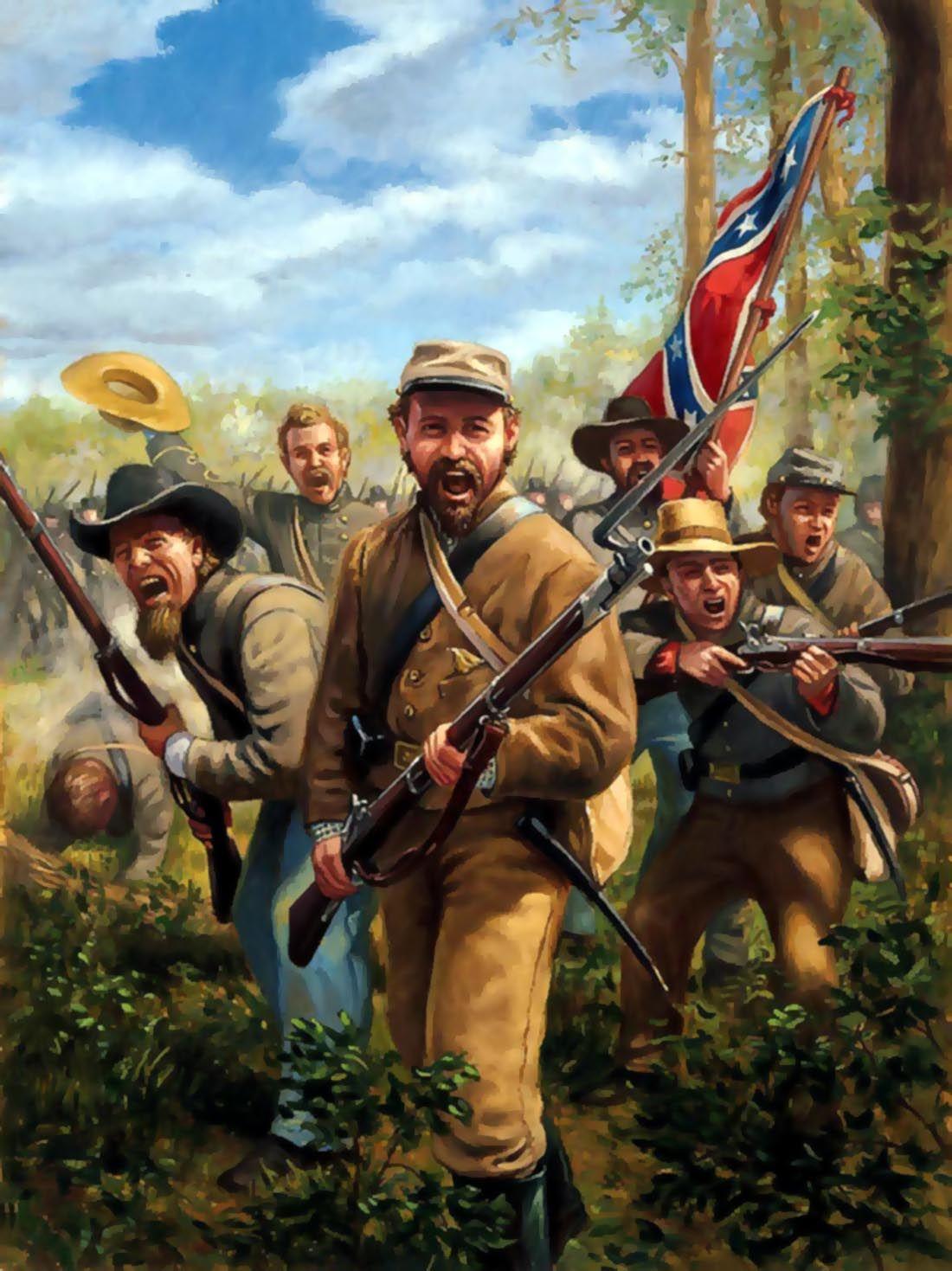 Confederate rebels   American Civil War Art   Pinterest   Guerras ...