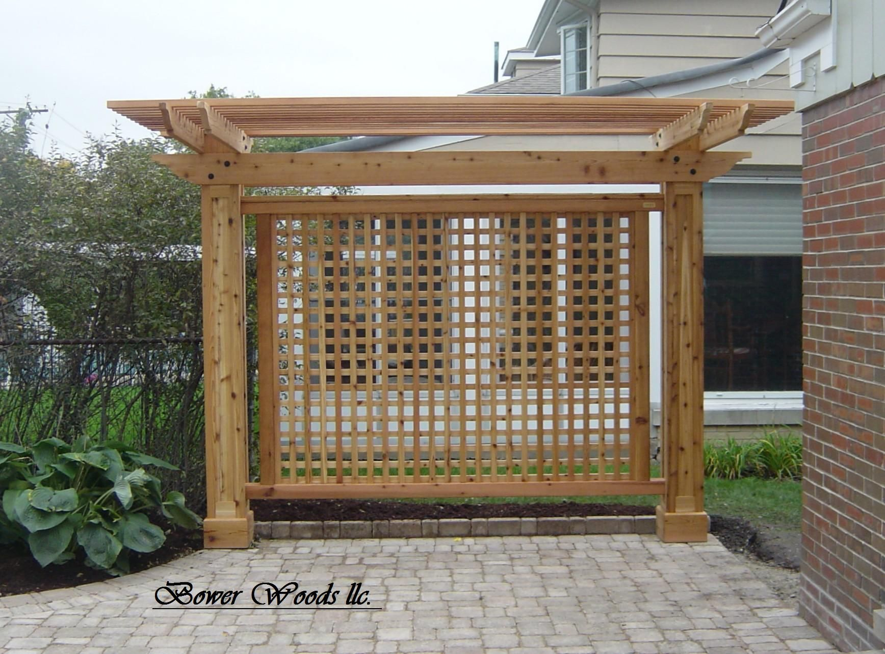Charmant Patio Privacy Trellis