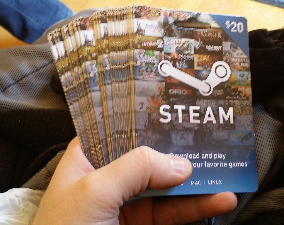 This is what $1000.00 in Steam Gift Cards looks like. Oh, I'm ...