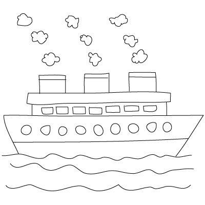 bateau dessin facile