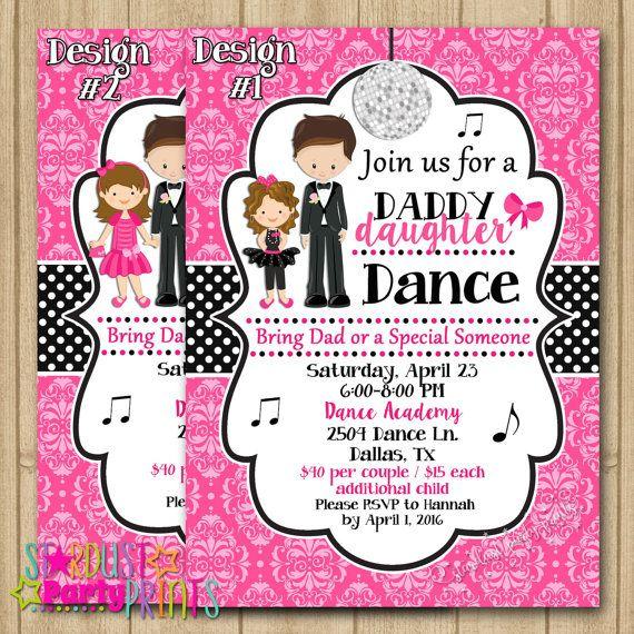 Father Daughter Dance Invitation Dance Party Invitation Etsy pto