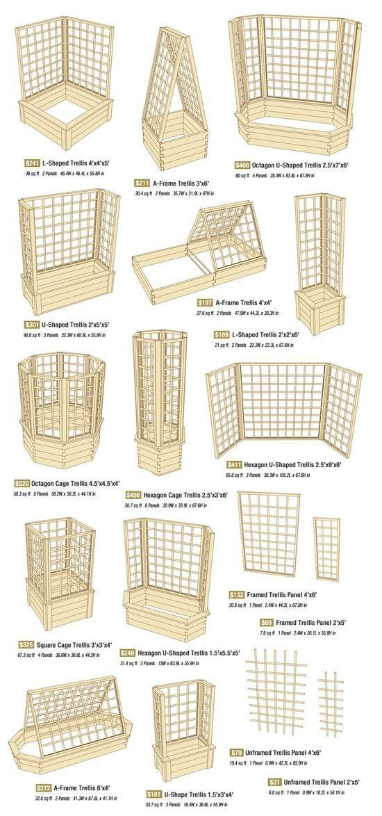 "Small garden space? Go up! I need to use trellising to make the most of our garden space. This ""trellis idea"" chart ought to come in handy.:"
