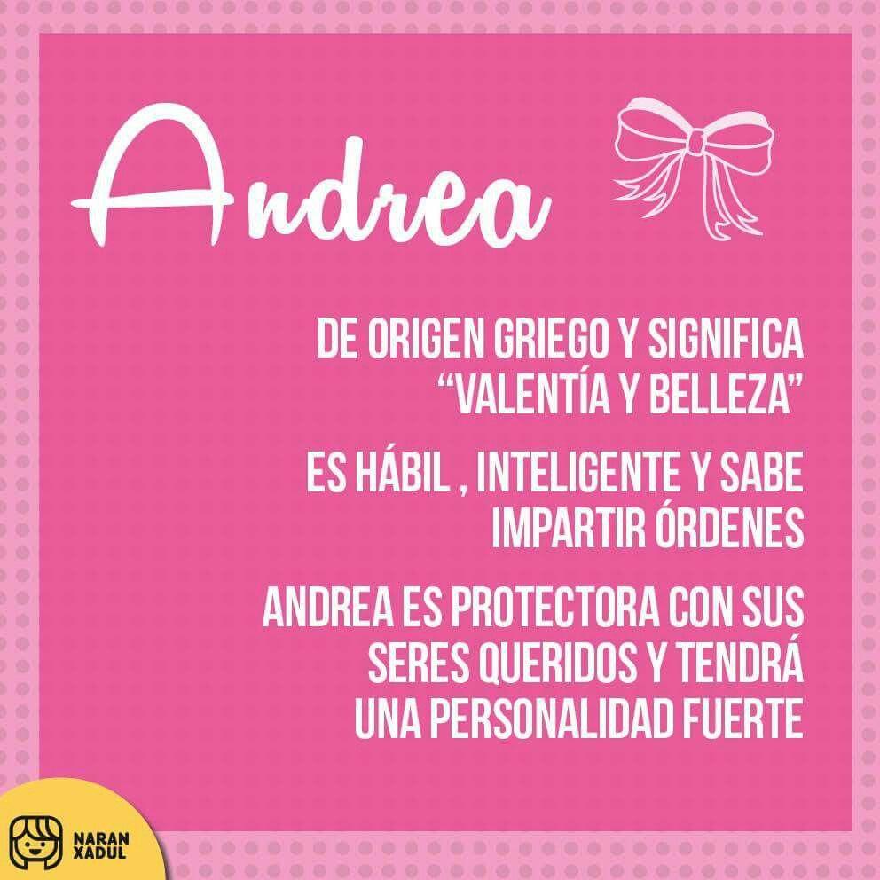 18 Ideas De Andreita Nombre Andrea Significado Significados De Los Nombres Nombres