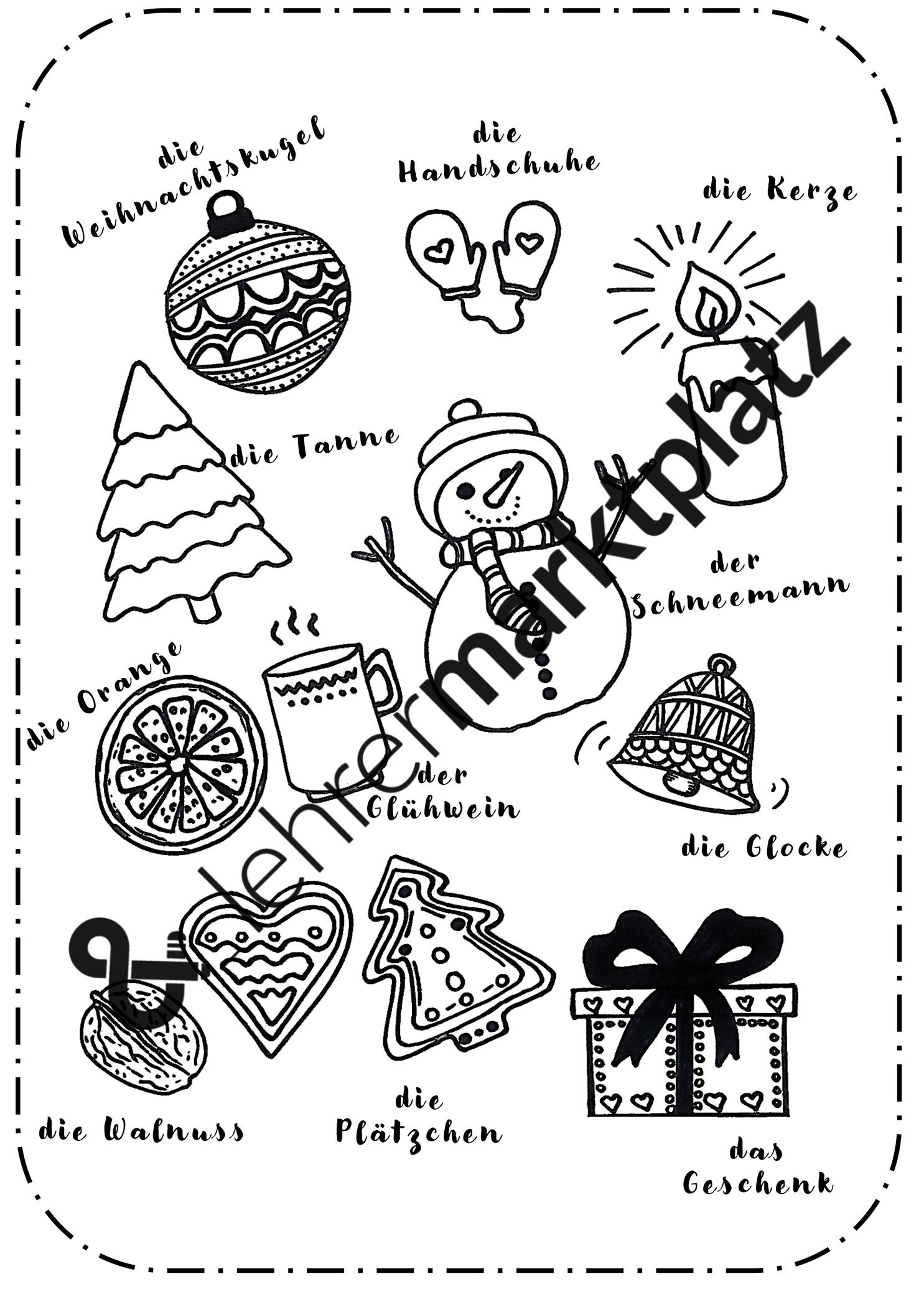 Ausmalbild Weihnachten Unterrichtsmaterial Ausmalbilder Weihnachten Ausmalbild
