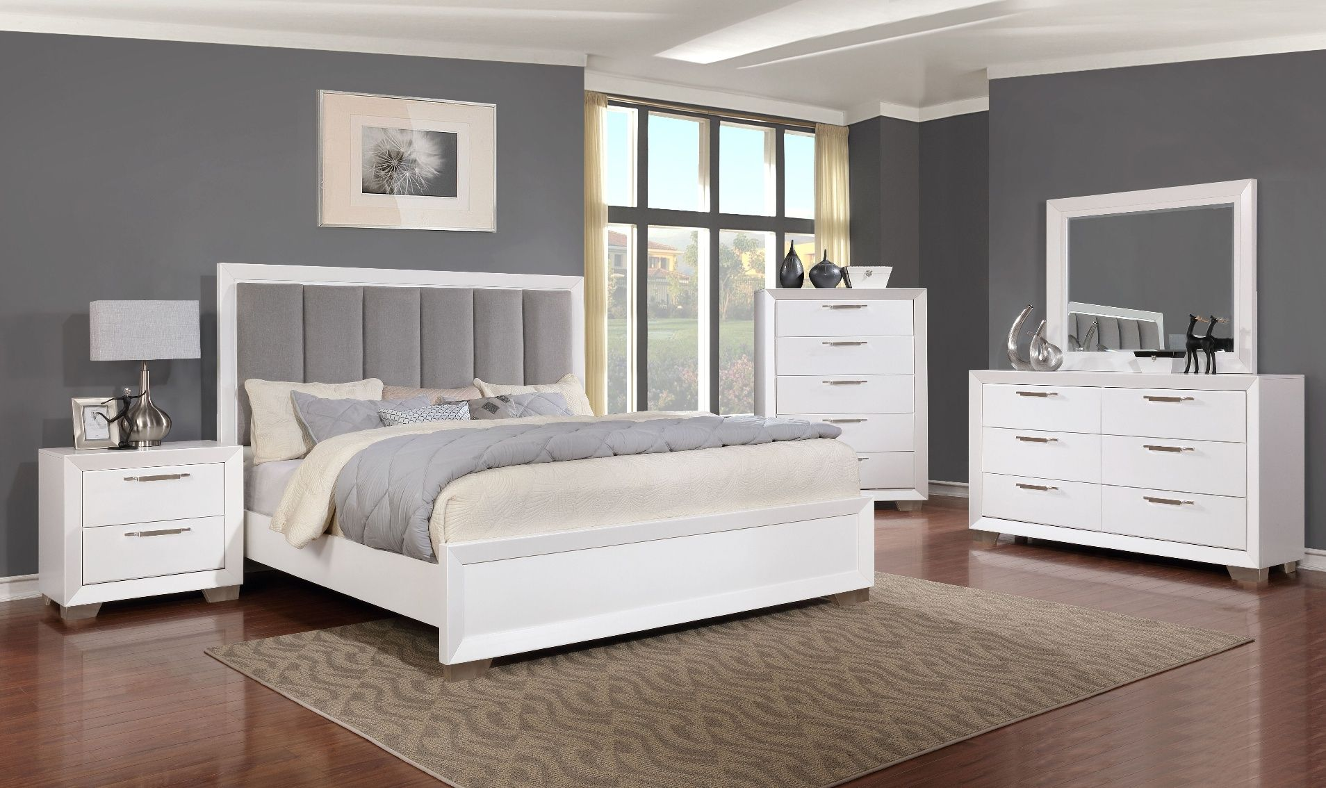 Liam 5 Piece Bedroom $1199 Dresser, Mirror, Chest, Bed and