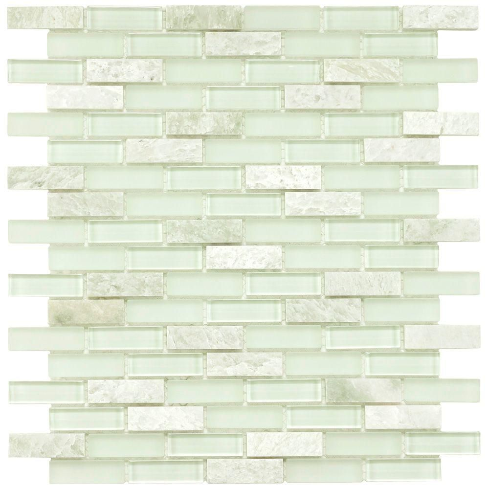 Merola tile tessera subway ming 11 34 in x 11 34 in x 8 mm merola tile tessera subway ming 11 34 in x 11 34 in x 8 mm glass and stone mosaic tile dailygadgetfo Choice Image