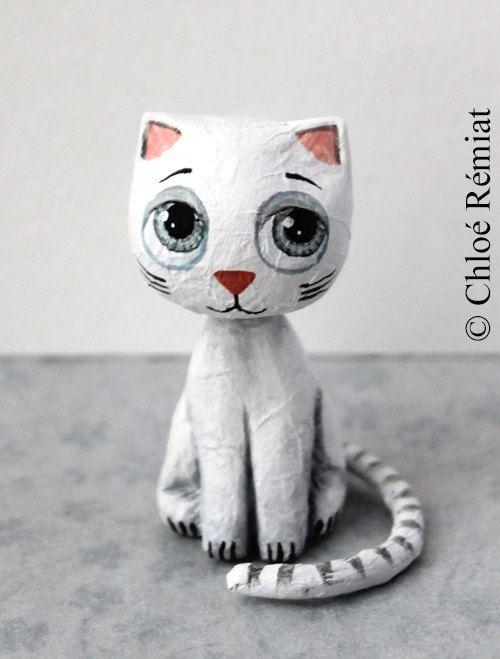 Amarillo 5/Cinco Mini Animal Gato escritorio Papelera 2000cm3