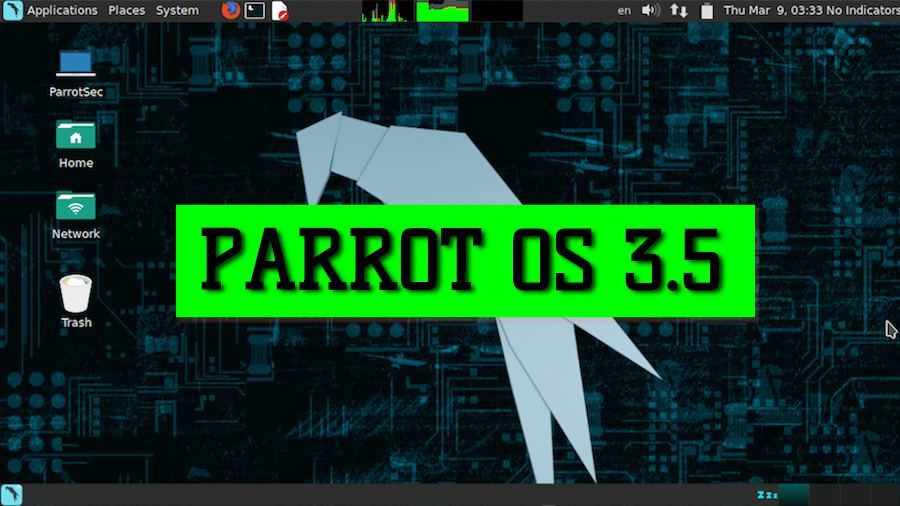 Frozenbox Network has released Parrot Security OS 3 5