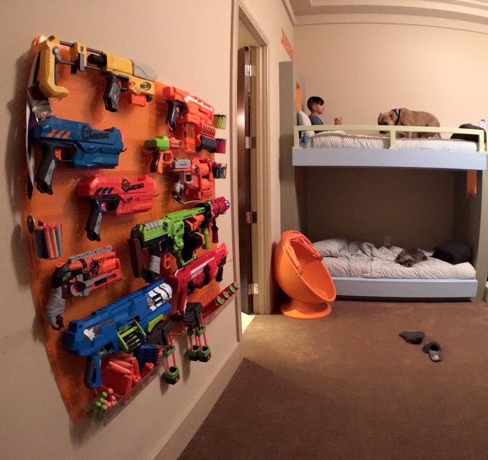Nerf Gun Pegboard