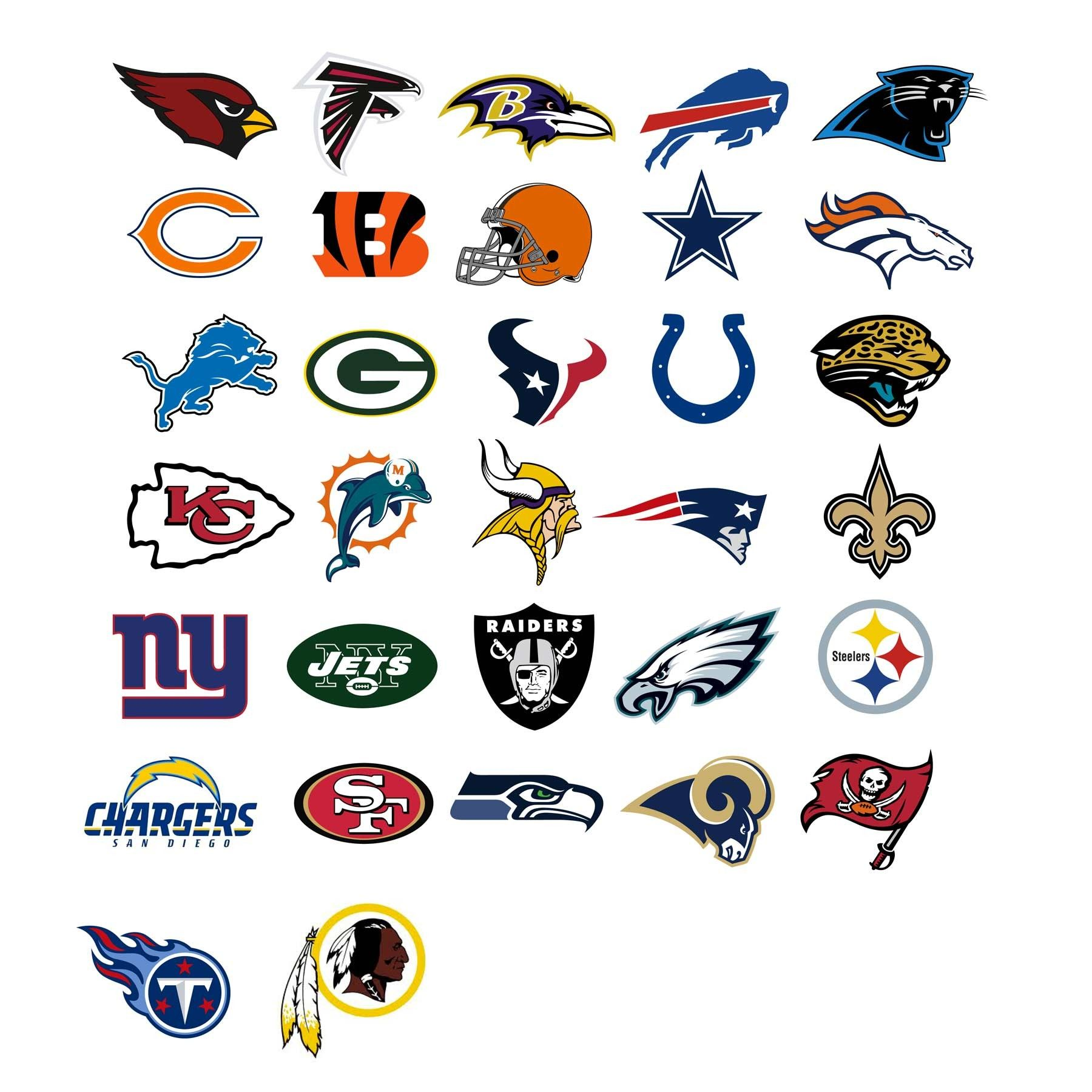 Take a look at the team logos of the NFL (National