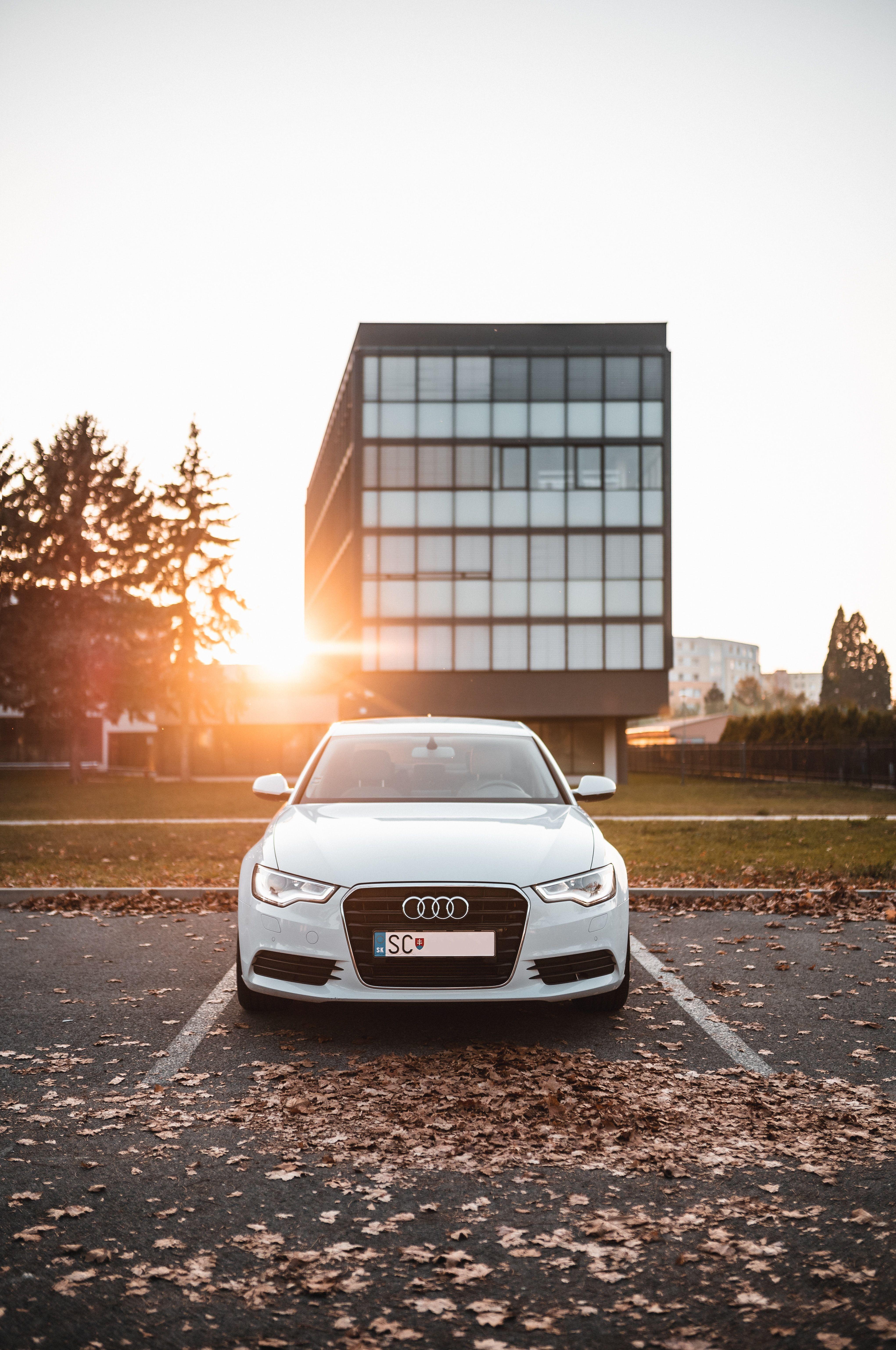 White Audi Sedan On Parked Cars In 2020 With Images Audi Sedan Audi Sedan