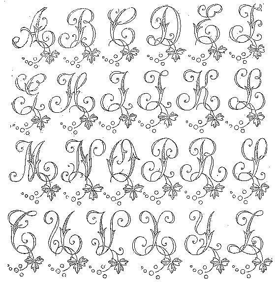 Resultado de imagen para riscos de letras para bordar | Ideas de ...