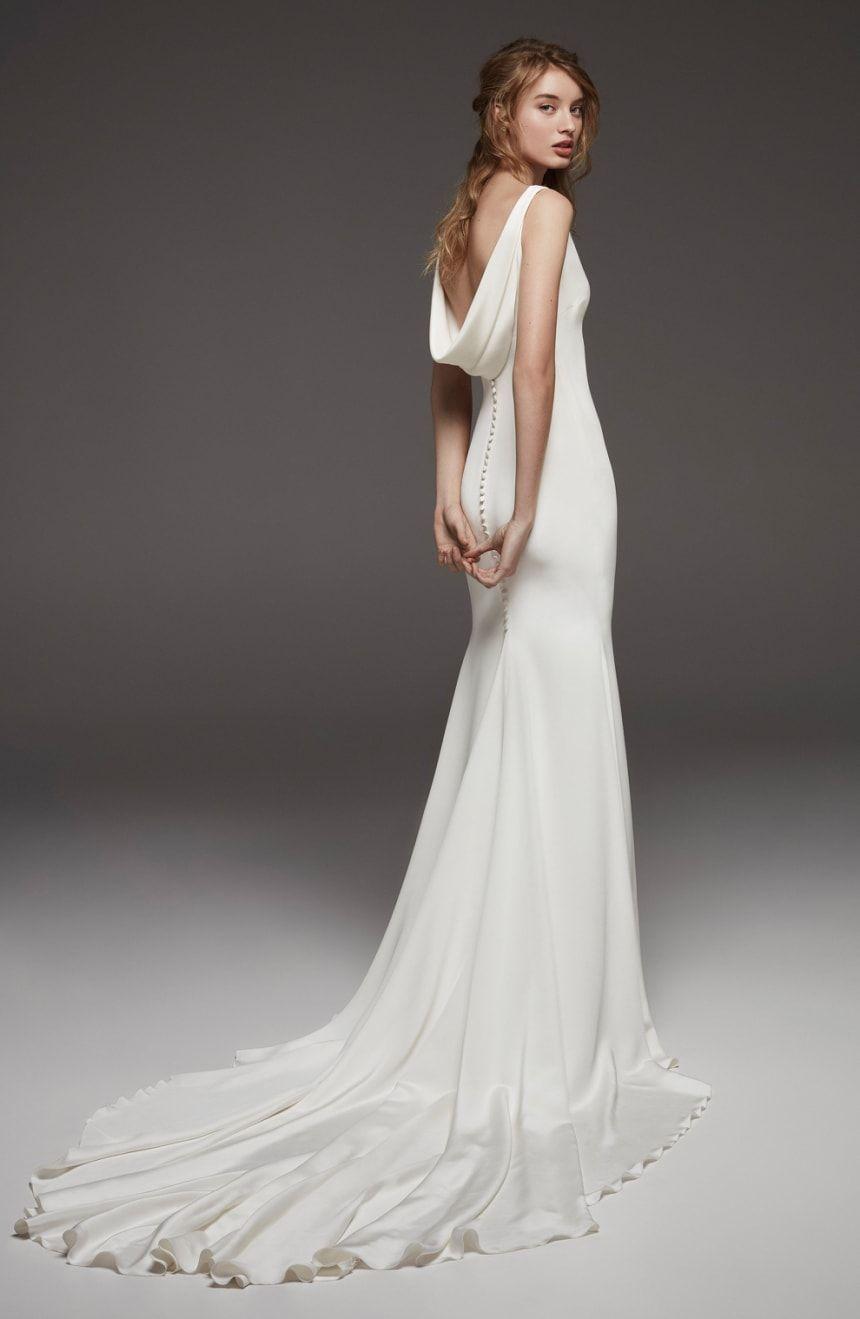 bd23094adc Atelier Pronovias Hispalis Crepe Cowl Back Gown